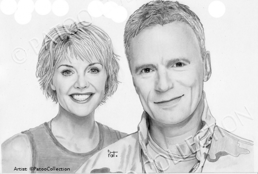 Richard Dean Anderson, Amanda Tapping by dedrika